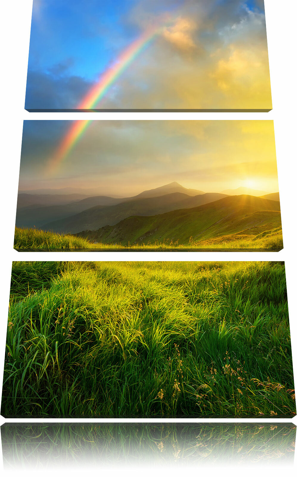 Home Loft Concept Beautiful Mountains with Rainbow in the Sky 3 ...