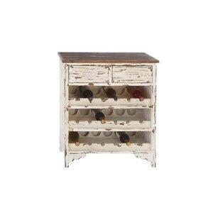 Beachcrest Home Edgecomb Wood 2 Drawer Wine Cabinet