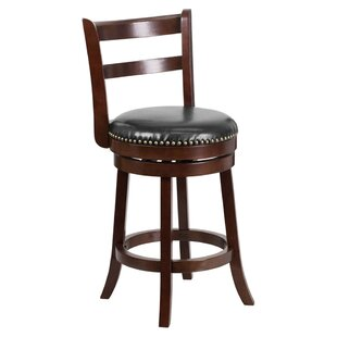 Gabor Counter Height 26.25 Swivel Bar Stool