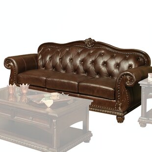 Wentz Leather Sofa by Astoria Grand