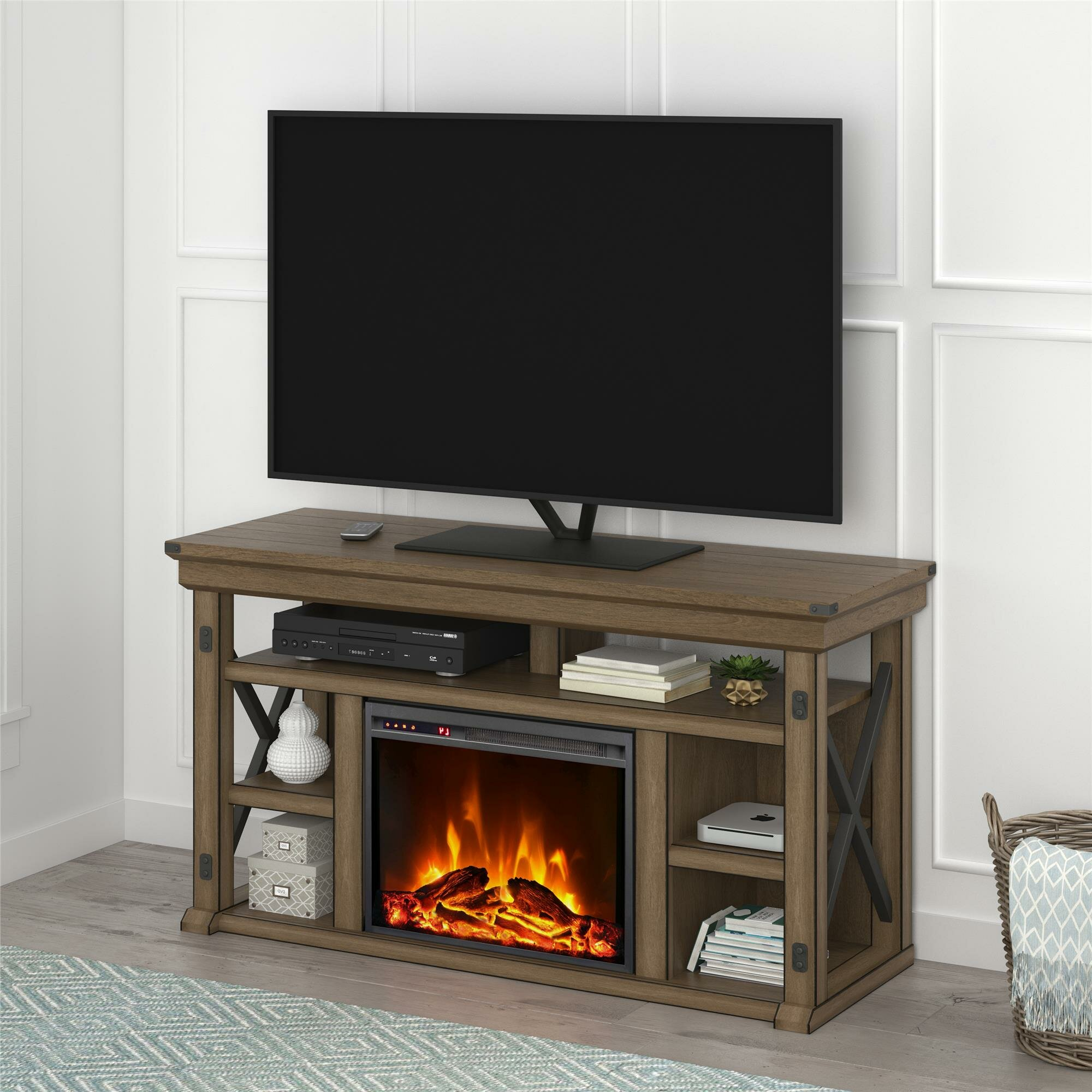 Gladstone Tv Stand For Tvs Up To 60 Inches With Fireplace Included Reviews Joss Main