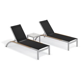 Brayden Studio Saint-Pierre Reclining Chaise Lounge with End Table
