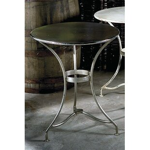 Teo Nickel Plated End Table by 17 Stories