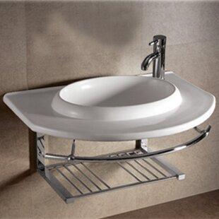 Bargain Isabella Ceramic 36 Wall Mount Bathroom Sink ByWhitehaus Collection