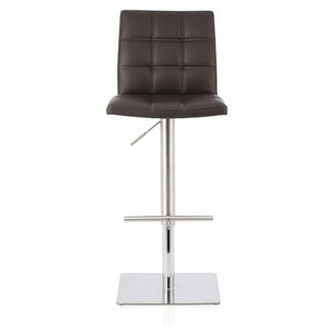 Hinnant Height Adjustable Swivel Bar Stool By Wade Logan