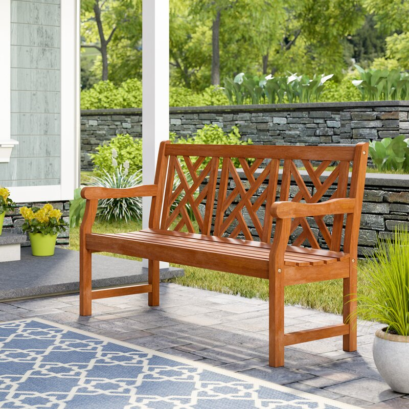 Beachcrest Home Amabel Wooden Garden Bench & Reviews | Wayfair