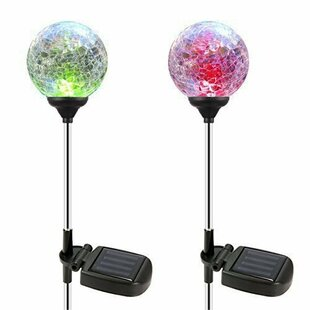 OxyLED Solar Crystal Glass LED�Pathway Light (Set of 4) (Set of 4)
