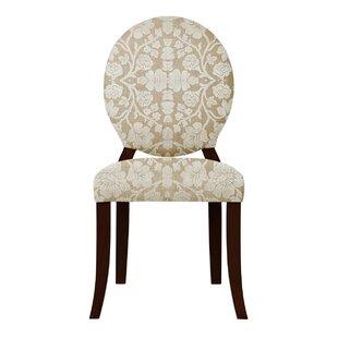 Red Barrel Studio Lashley White Flowers Side Chair (Set of 2)