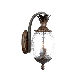 Great deal Kyra 3-Light Outdoor Wall Lantern By Beachcrest Home
