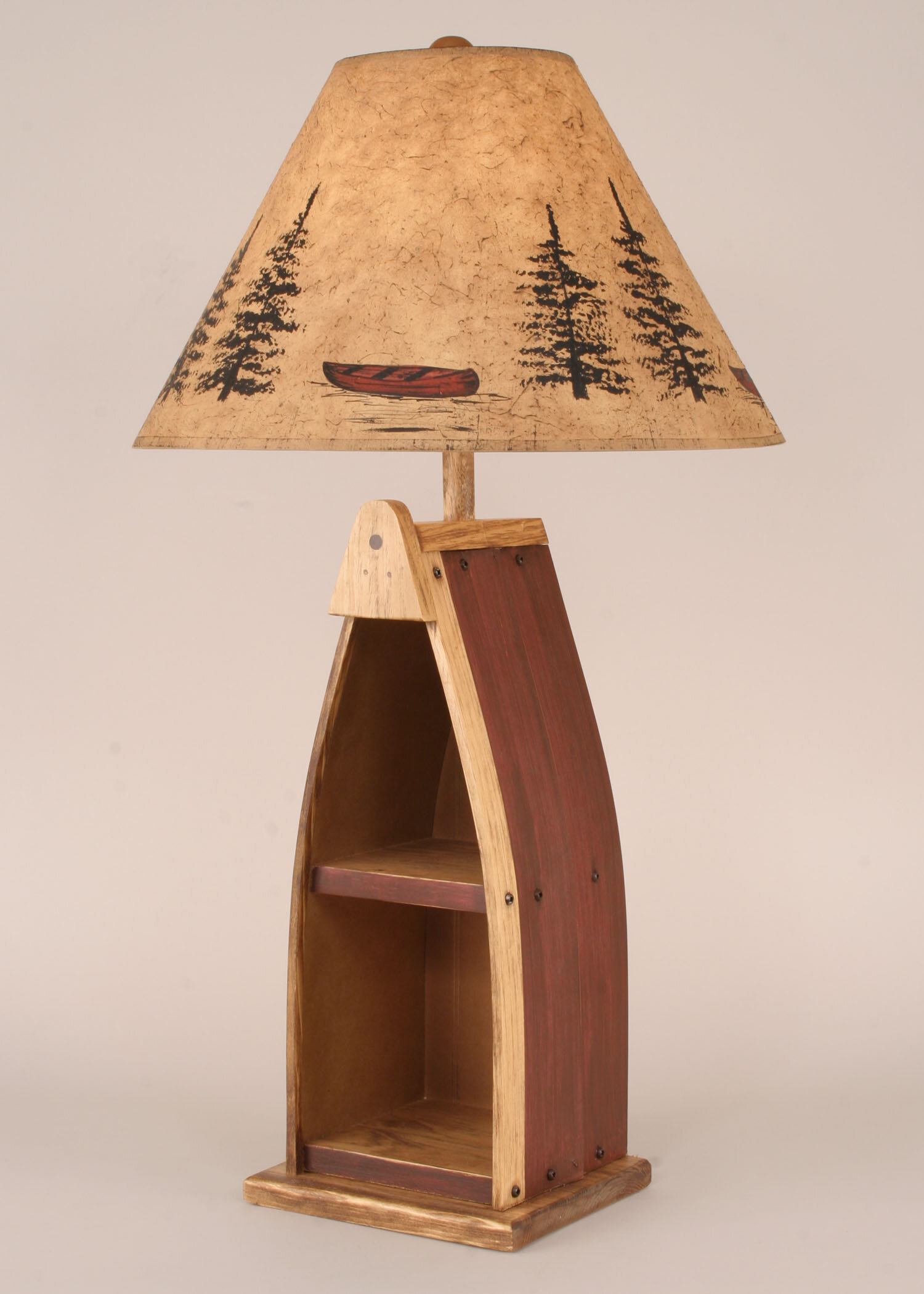 Union Rustic Cannonleague Wooden Boat 33 Table Lamp Wayfair