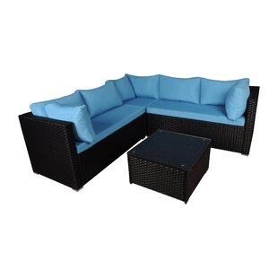 4 Piece Sectional Set with Cushions