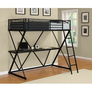 Margery X Shaped Twin Loft Bed by Harriet Bee