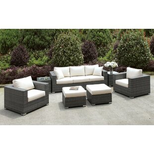 Peters 7 Piece Deep Seating Group with Cushions by Brayden Studio