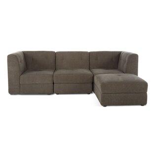 Alecia 4 Piece Modular Sofa with Ottoman