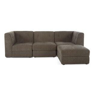 Shop Edgartown 4 Piece Modular Sofa with Ottoman by Three Posts