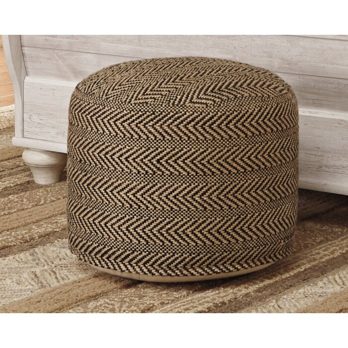 Incredible Wyndham Chevron Pouf Ottoman Alphanode Cool Chair Designs And Ideas Alphanodeonline