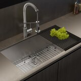 """Pax™ 31"""" x 18"""" Undermount Kitchen Sink with Drain Assembly"""