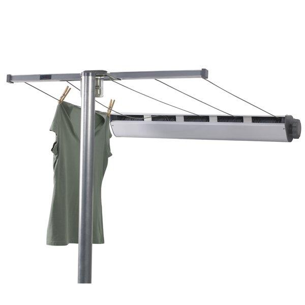 Wonderful Household Essentials 5 Line Retractable Clothesline With Single Post U0026  Reviews | Wayfair