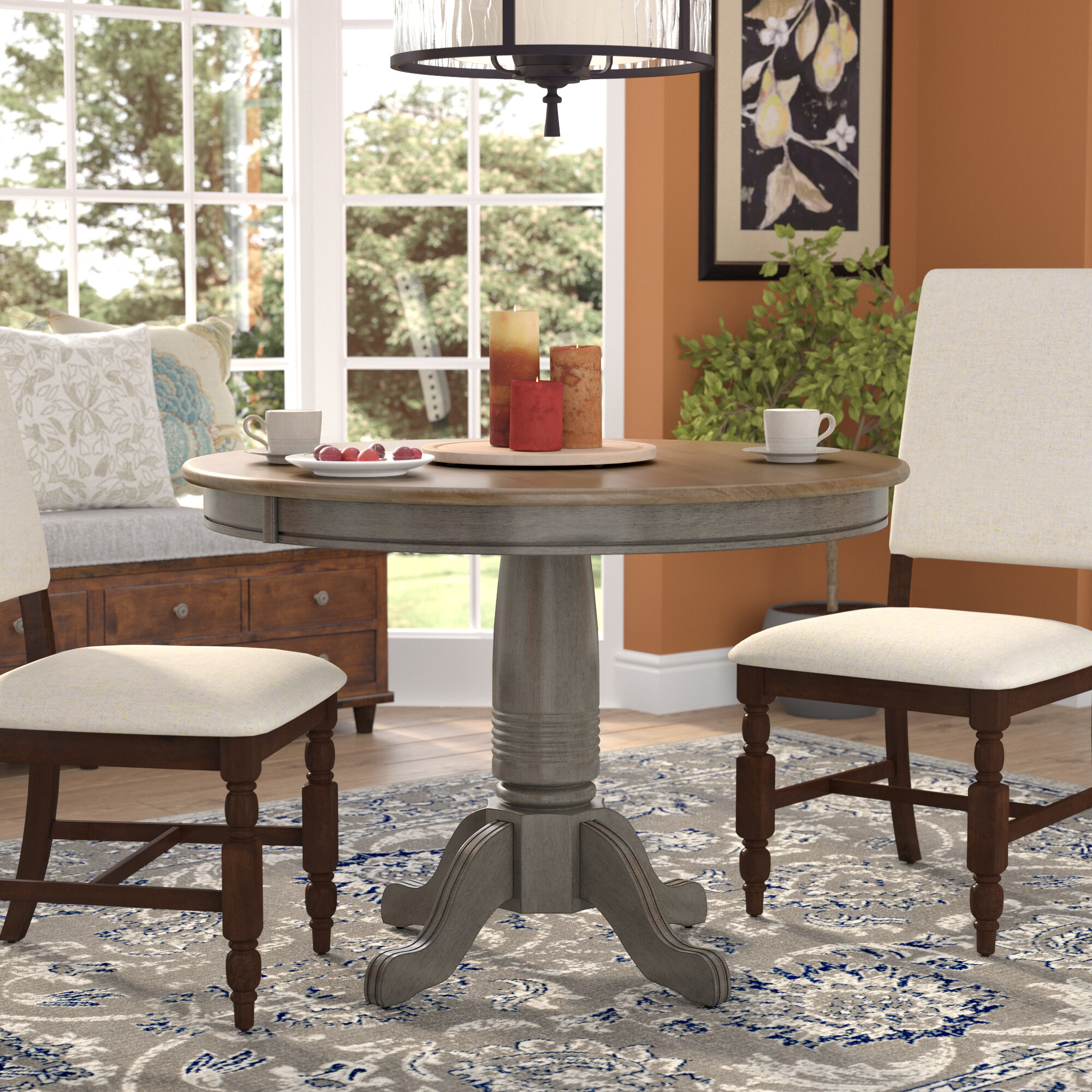 Alcott Hill Melin Round Dining Table Reviews Wayfair
