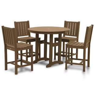 August Grove Osborn 5 Piece Bar Height Dining Set