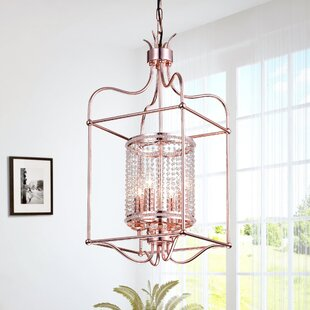 Rosdorf Park Brock Hill 4-Light Lantern Pendant