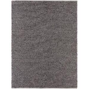 Birgitt Hand-Woven Wool/Cotton Black Area Rug