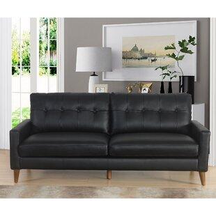 Annalise Wright Leather Sofa by Corrigan Studio