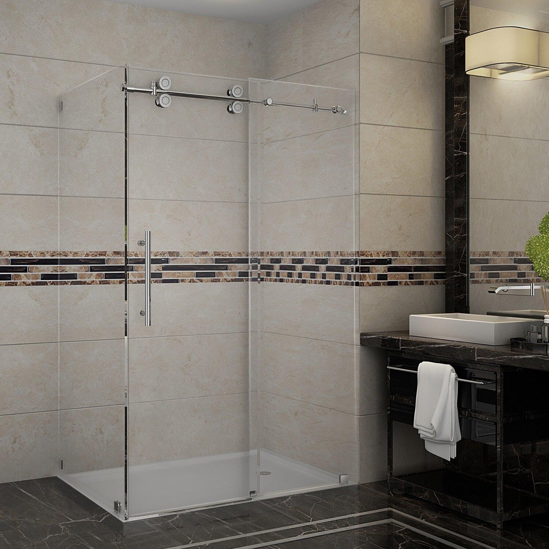 brushed enclosure x com verona hinged nickel deep wide full faucet with clear view door vigo frameless bathroom glass shower high