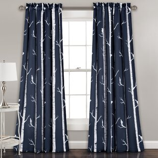 Mendon Thermal Room Darkening Curtain Panels (Set of 2) by Wrought Studio