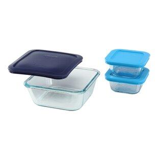 Storage Plus Square 3 Container Food Storage Set
