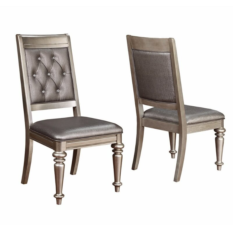 Rosdorf Park Linck Armless Chair With Tufted Back Upholstered Dining