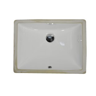 Reviews Ceramic Rectangular Undermount Bathroom Sink with Overflow By UCore