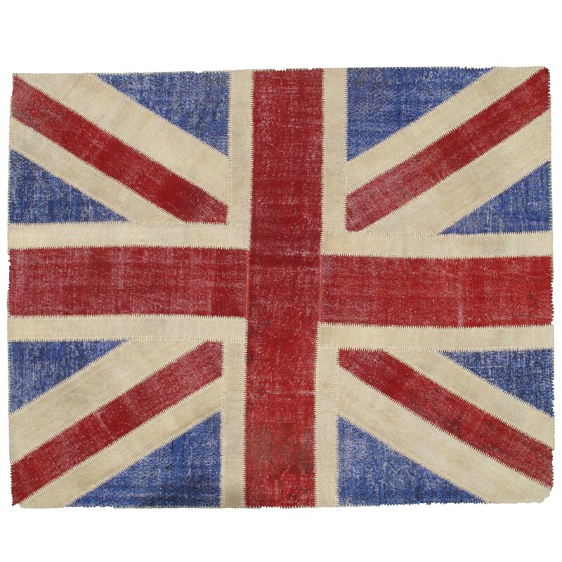 Union Jack Patchwork Hand Knotted Wool