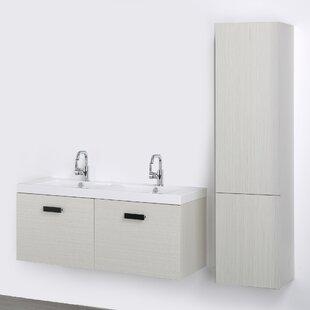 47 Wall-Mounted Double Bathroom Vanity Set ByStreamline Bath