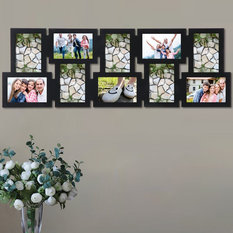 AdecoTrading 10 Opening Decorative Interlocking Wall Hanging Collage ...