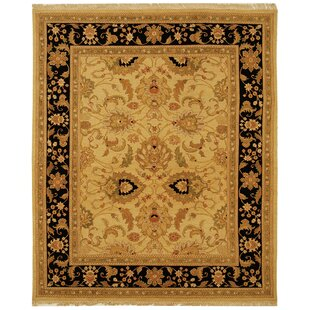 Affordable Linwood Gold/Black Area Rug By Darby Home Co