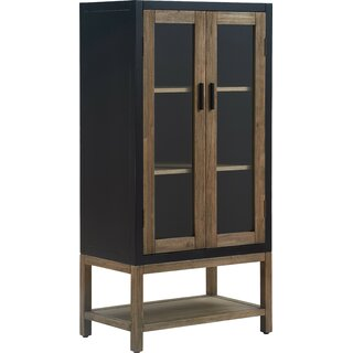 Elmhurst Storage Cabinet, Black and Weathered Grey by Tommy Hilfiger SKU:EE539294 Information