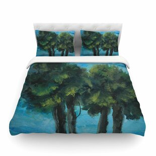 Twin Palms by Blue/Green Featherweight Duvet Cover
