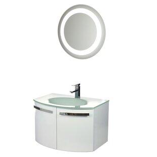 Crystal Dance 28 Single Bathroom Vanity Set with Mirror by ACF Bathroom Vanities