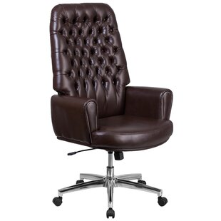 Broadwell Traditional Tufted Swivel High Back Executive Chair