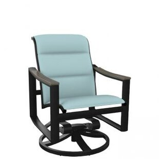 Brazo Padded Sling Swivel Rocking Chair