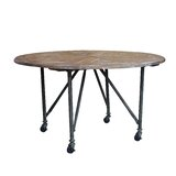 Della Solid Wood Dining Table by Union Rustic