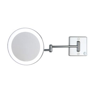 Discololed LED Lighted 3x Magnifying Makeup Mirror By WS Bath Collections