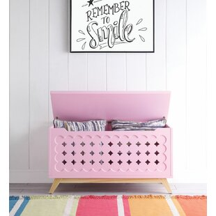 Burbank Wooden Lift Top Storage Bench by Zoomie Kids