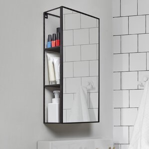 Bathroom Mirror With Shelves shelf or drawer mirrors you'll love | wayfair