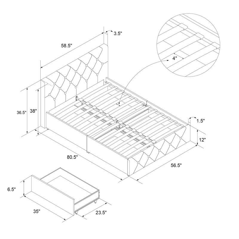 Three Posts Fareham Upholstered Storage Platform Bed Reviews
