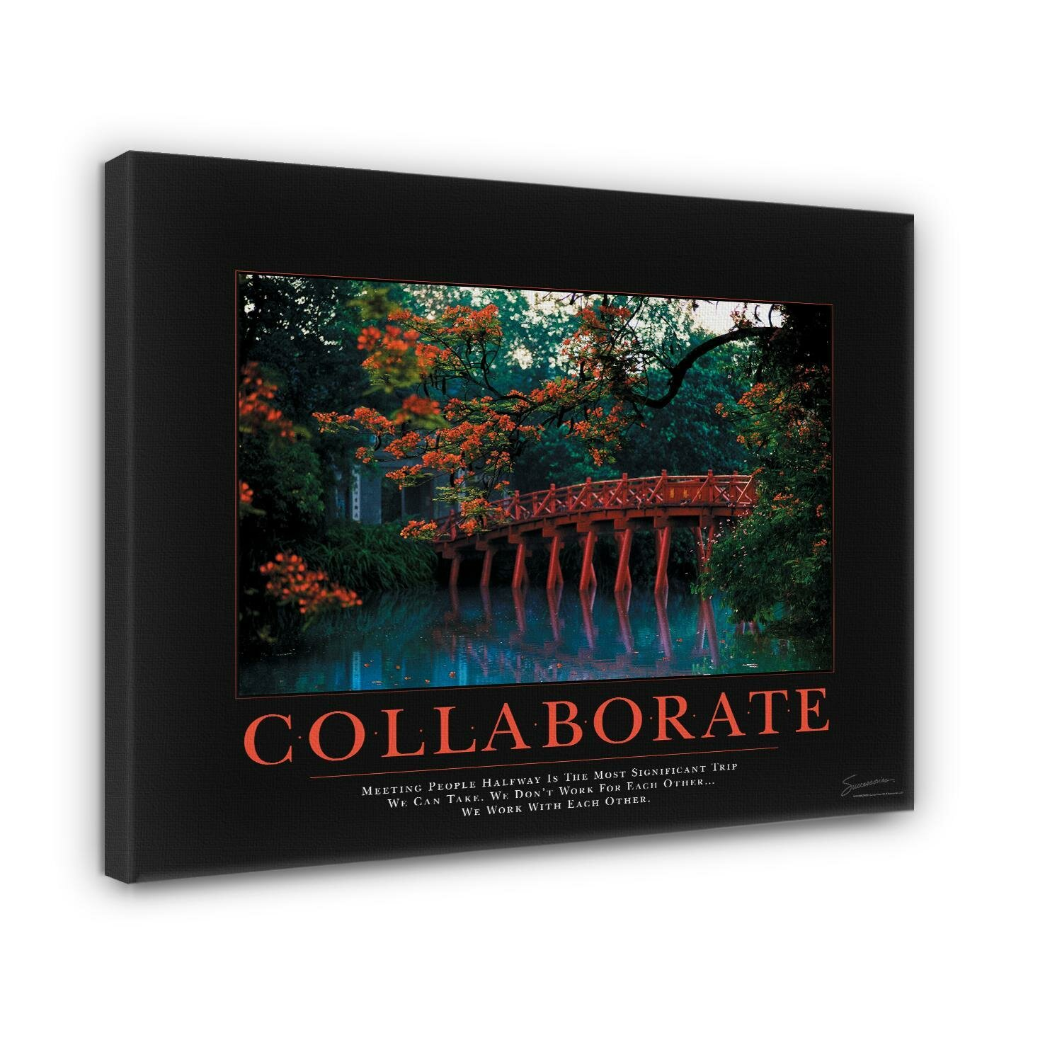 Successories Change Forest Falls Motivational Photographic Print On Wrapped Canvas