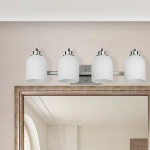 4 light vanity fixture four light hudnall 4light vanity light bathroom lighting youll love wayfair