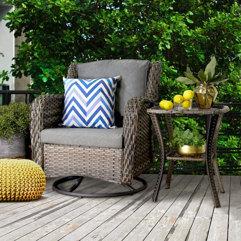 Bayou Breeze Kadin 2 Piece Rattan Sofa Seating Group With Cushions Reviews Wayfair