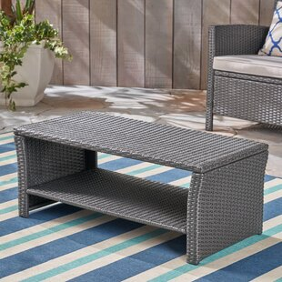 Liberatore Outdoor Wicker Coffee Table